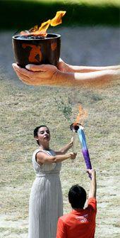 Αφή  Ολυμπιακής  Φλόγας  2010